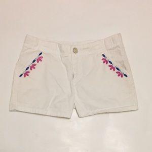 Gymboree girls white shorts